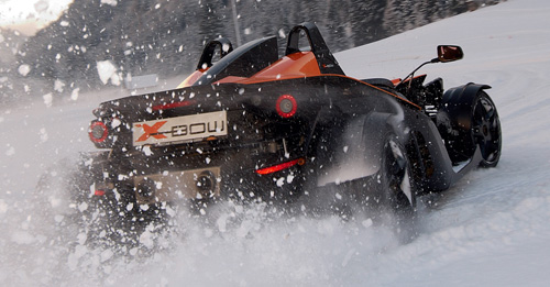 KTM X-BOW Winter Drift Training
