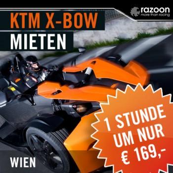 KTM X-BOW mieten Wien 1 Stunde
