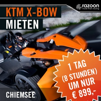 KTM X-BOW mieten Chiemsee 1 Tag