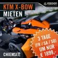 KTM X-BOW mieten Chiemsee 3 Tage