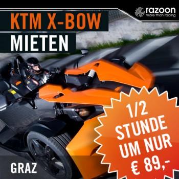 KTM X-BOW mieten Graz 30 Min