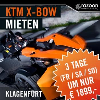 KTM X-BOW mieten Klagenfurt 3 Tage