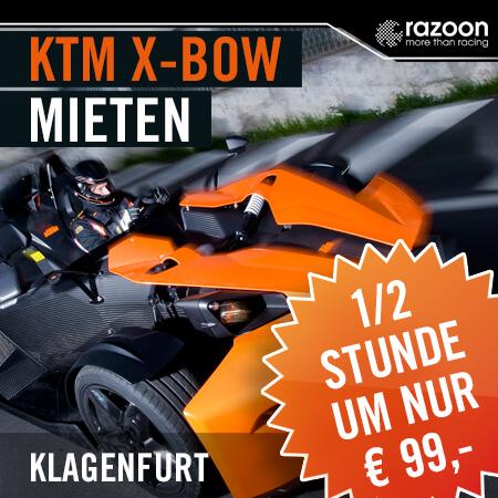 KTM X-BOW mieten Klagenfurt 30 Min