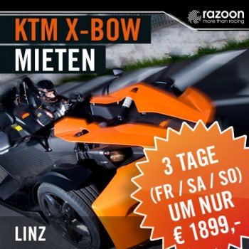 KTM X-BOW mieten Linz 3 Tage