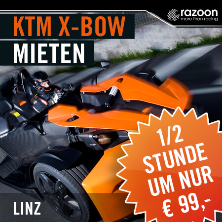 KTM X-BOW mieten Linz 30 Min