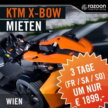 KTM X-BOW mieten Wien 3 Tage