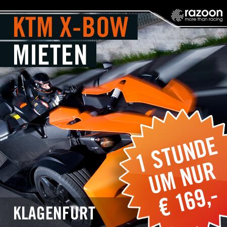 KTM X-BOW mieten Klagenfurt 1 Stunde