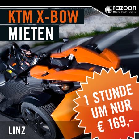 KTM X-BOW mieten Linz 1 Stunde