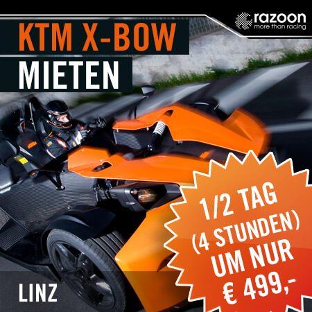 KTM X-BOW mieten Linz 1/2 Tag