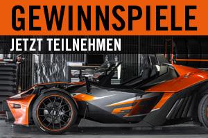 Transportdienstleistungen KTM X-BOW Gewinnspiele