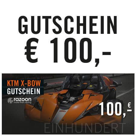 razoon KTM X-Bow Gutschein 100,- Euro