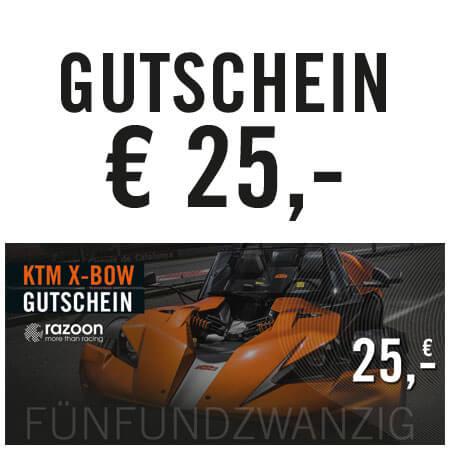 razoon KTM X-Bow Gutschein 25,- Euro