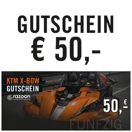 razoon KTM X-Bow Gutschein 50,- Euro