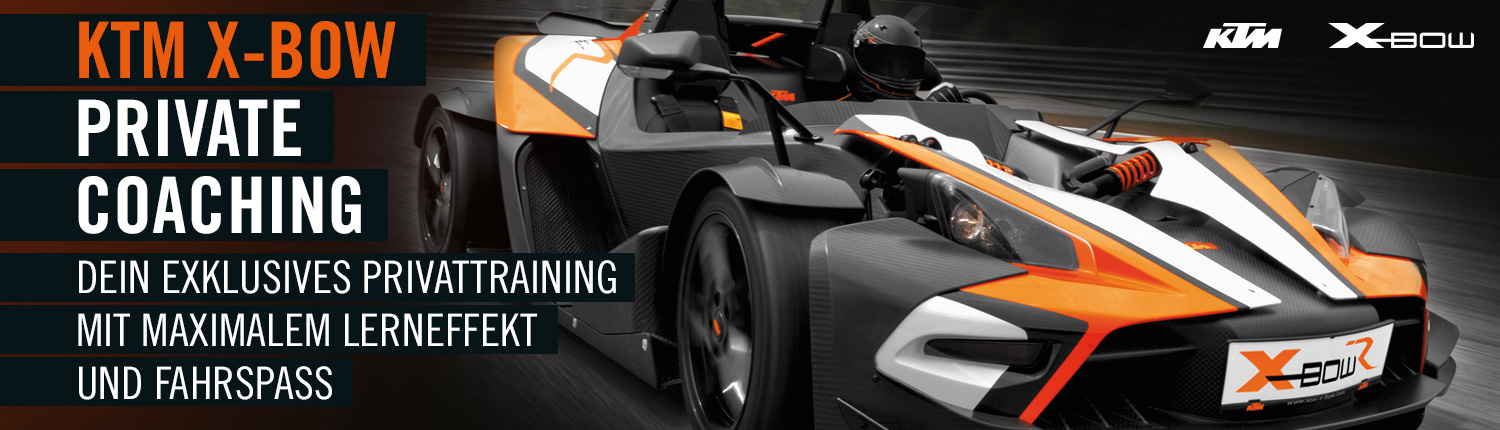 Private Coaching KTM X-Bow - Exclusives KTM X-Bow Privattraining!
